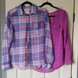 Lot Old Navy American Eagle Shear Blouses